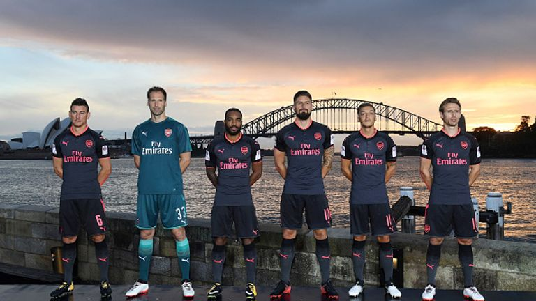 Arsenal launched their new third kit in Australia