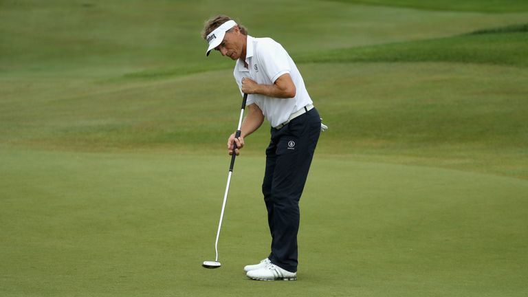 Langer leads as King battles in Senior Open in Porthcawl