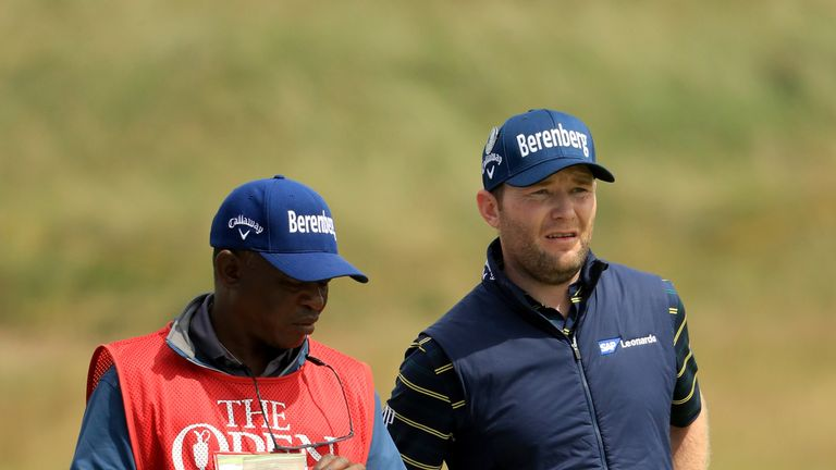 The South African's low round lifted him to four under