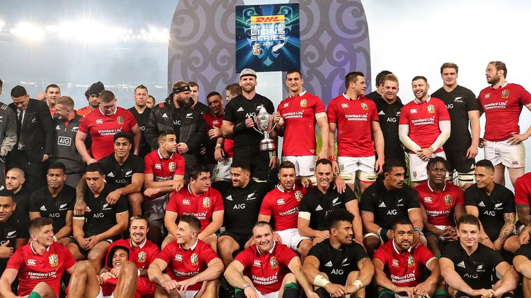 The Lions drew their three-match Test series against New Zealand last summer