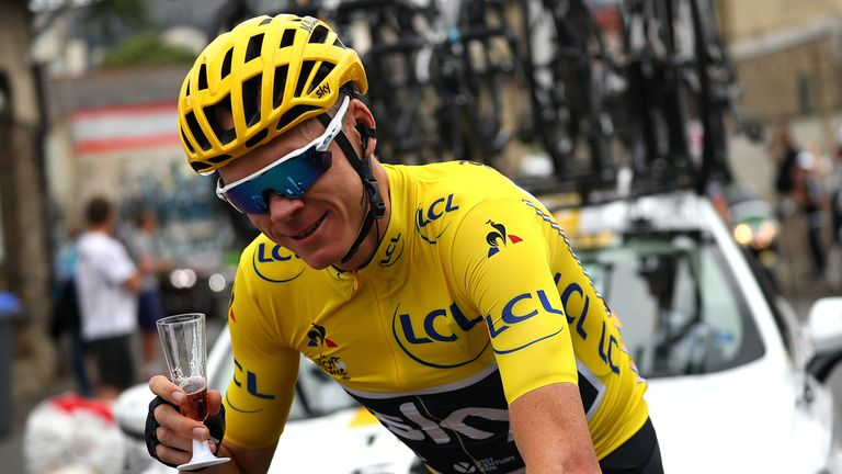 Froome won the Tour de France for the fourth time in 2017