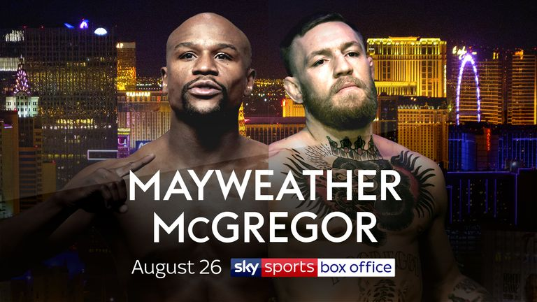 Floyd Mayweather faces Conor McGregor in Las Vegas on August 26, live on Sky Sports Box Office
