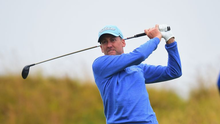 Ian Poulter is in a three-way tie for the Scottish Open lead
