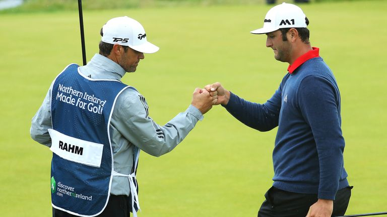 Rahm's 72-hole total is the lowest in Irish Open history