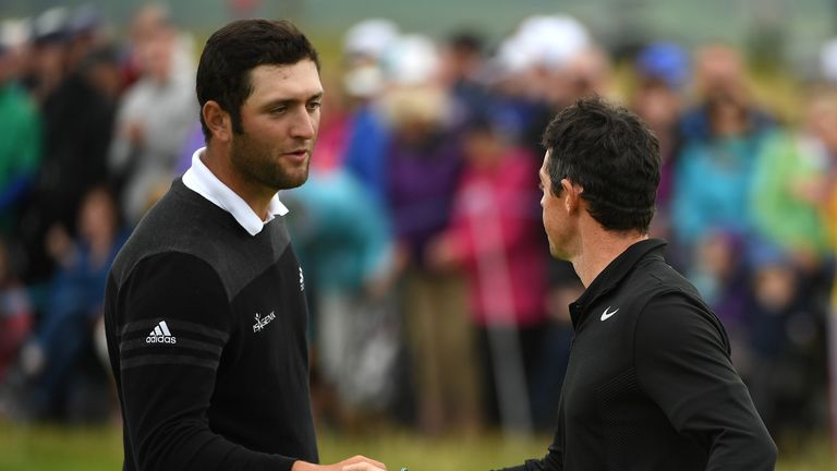 Jon Rahm is one off the lead after a superb 65
