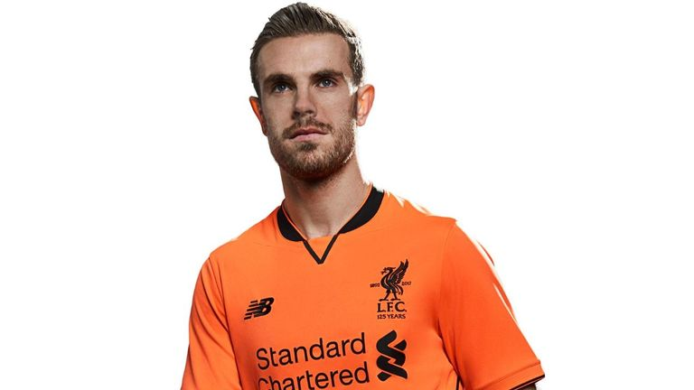 Jordan Henderson models the Bold Citrus shirt
