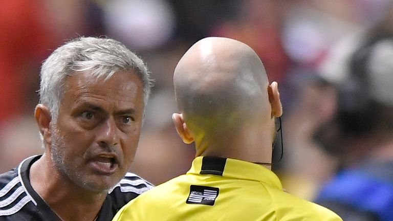 Jose Mourinho was frustrated by the referee's decision to dismiss Valencia