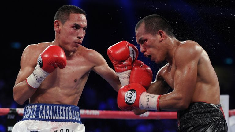 Mexico's flyweight star Juan Francisco Estrada (L) is now in the super-flyweight mix.