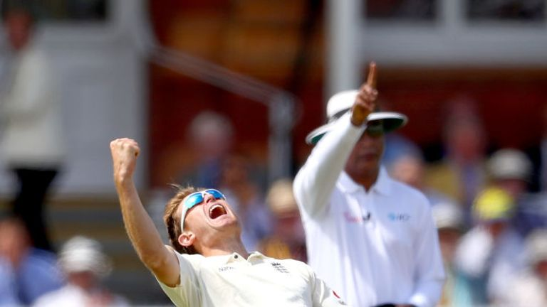 Dawson took four wickets in the first Test against South Africa at Lord's