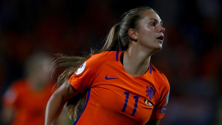 Netherlands midfielder Lieke Martens took home the top women's prize