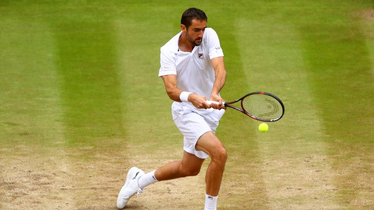 Marin Cilic has not played since losing to Roger Federer in the Wimbledon final