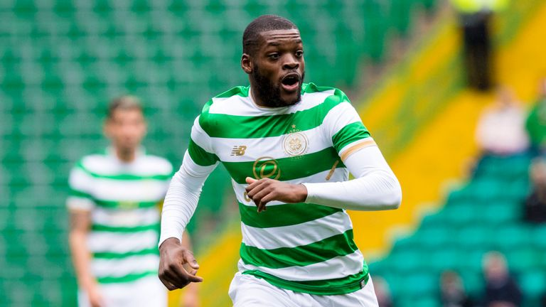 Olivier Ntcham came off midway through the second half in Celtic's draw with Kilmarnock