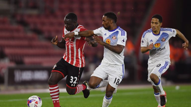Olufela Olomola in action against Sunderland in the EFL Cup last season