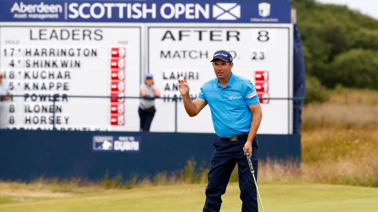 Harrington is not fazed by a 13-shot difference between his third and final rounds at Dundonald