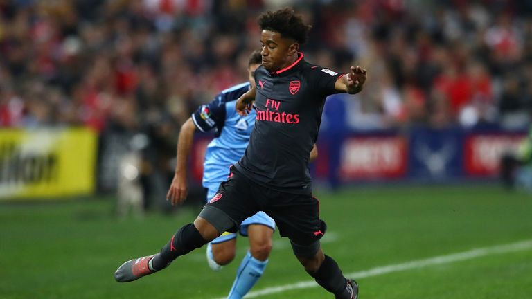 Reiss Nelson caught the eye during Arsenal's friendly win in Sydney
