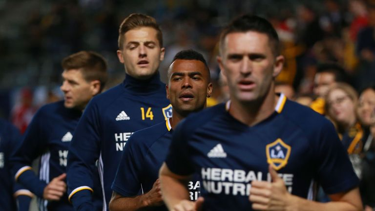 Robbie Keane (right) and Cole have become good friends at LA Galaxy