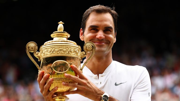 Roger Federer secured a record eighth Wimbledon title