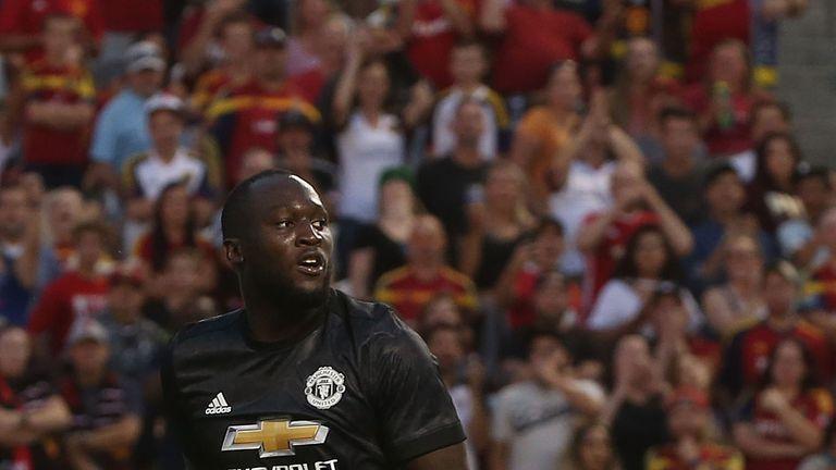 Romelu Lukaku scored his first Manchester United goal against Real Salt Lake