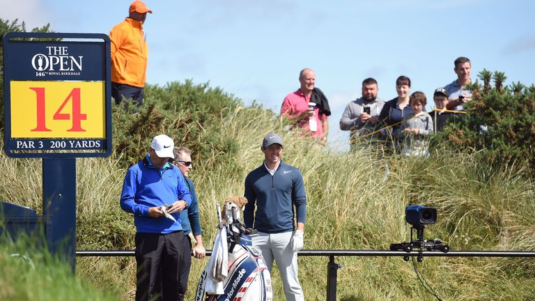 McIlroy enjoys an early practice round at Royal Birkdale ahead of The Open