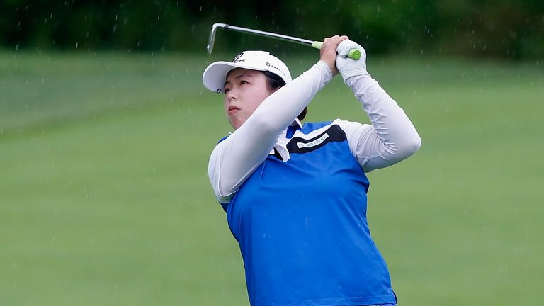 US Women's Open: Shanshan Feng leads as bad weather delays first round