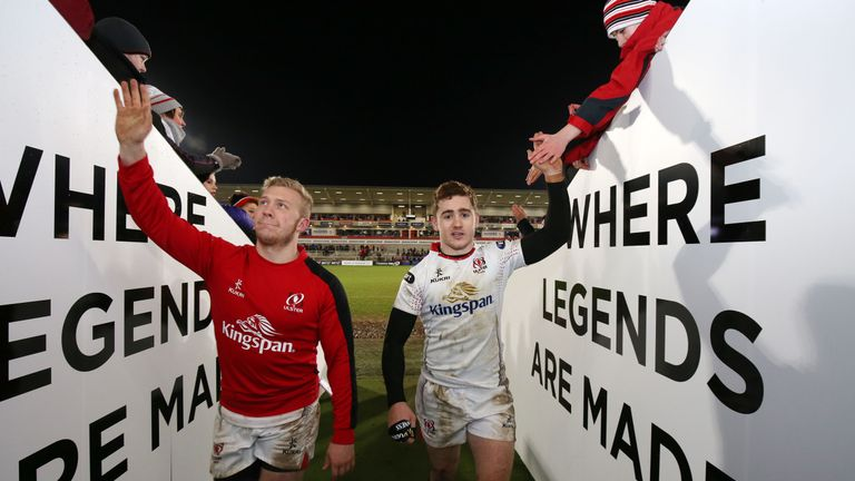 Ulster's Stuart Olding and Paddy Jackson