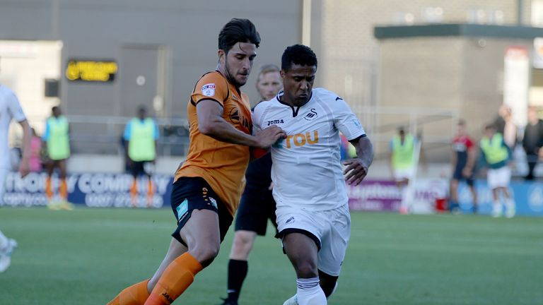Swansea conceded a first-half goal in their defeat to Barnet