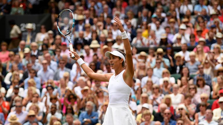 Garbine Muguruza reaches Wimbledon semi-finals