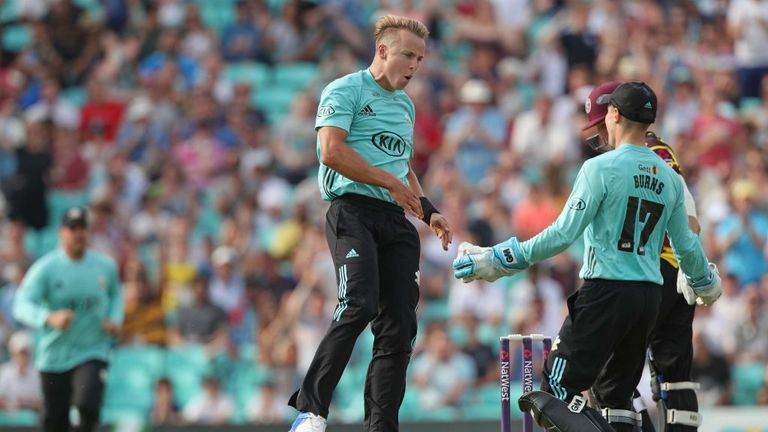 Tom Curran's death bowling has been crucial for Surrey in the NatWest T20 Blast