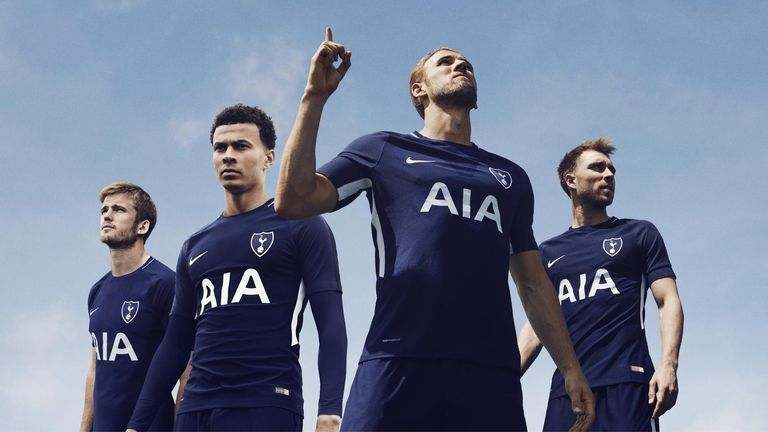 Tottenham's all-navy away kit for 2017/18 (Credit: Nike)
