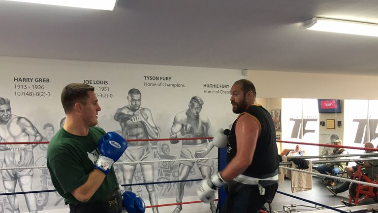 Tyson Fury is back in the gym as he seeks to make his return to the ring