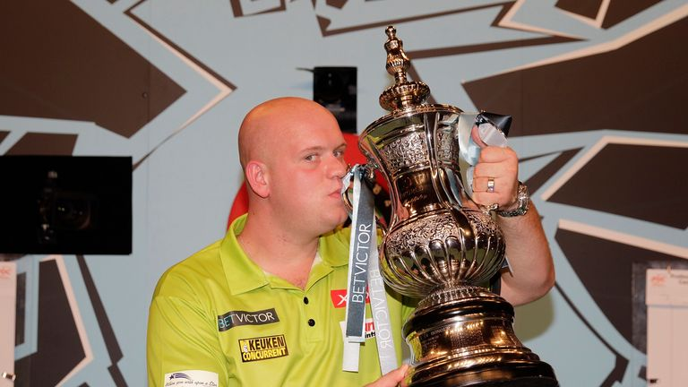 2016 Matchplay champion Michael van Gerwen is action on opening night in Blackpool, aiming to improve on his runners-up finish last year