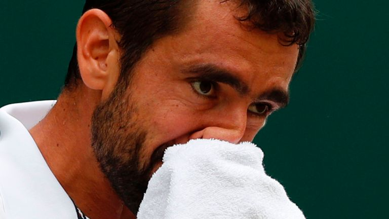 Marin Cilic was beaten in straight sets by Roger Federer