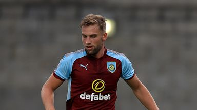 Charlie Taylor in pre-season action for Burnley