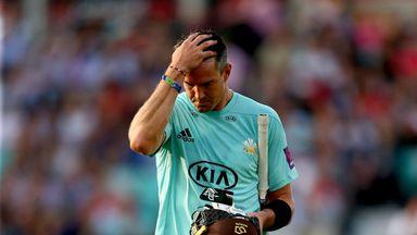 Kevin Pietersen tweaked his calf during his nine-ball four
