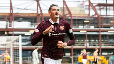 Kyle Lafferty scored twice as Hearts beat East Fife in the Betfred Cup