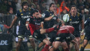 The Crusaders mastered the wet conditions to clinch a home semi-final