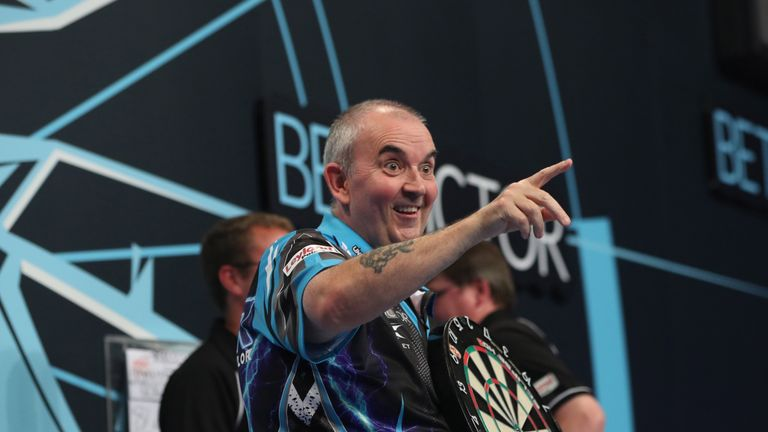 BET VICTOR WORLD MATCHPLAY 2017.WINTER GARDENS,.BLACKPOOL.ROUND 1.PHIL TAYLOR V GERWYN PRICE.PHIL TAYLOR IN ACTION