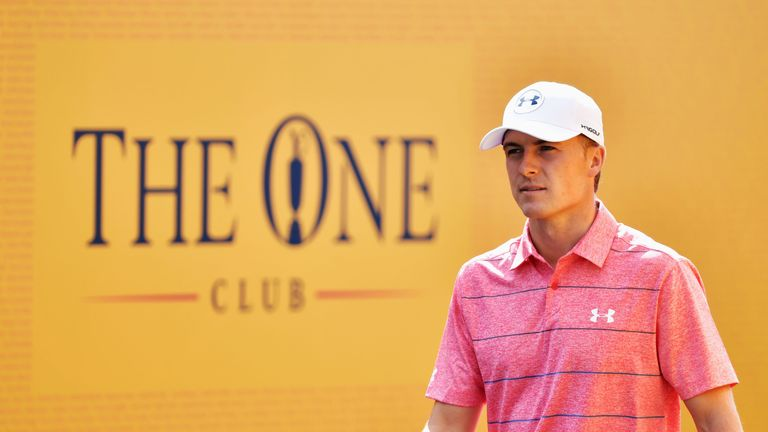 SOUTHPORT, ENGLAND - JULY 22:  Jordan Spieth of the United States walks onto the 1st tee during the third round of the 146th Open Championship at Royal Bir