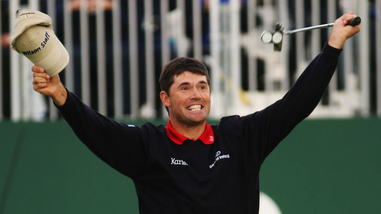 Harrington nails the winning putt and became the first Irishman to win The Open for 60 years