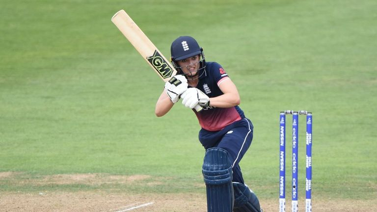 BRISTOL, ENGLAND - JULY 18: Sarah Taylor of England batting during the Semi-Final ICC Women's World Cup 2017 match between England and South Africa at The