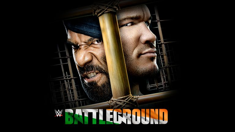 Jinder Mahal defends his WWE Championship against Randy Orton in a 'Punjabi Prison' at WWE Battleground.
