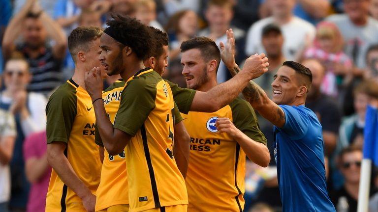 Pascal Gross scored Brighton's equaliser against Atletico Madrid