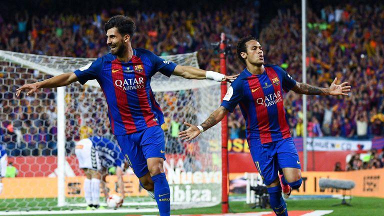 Andre Gomes made 17 starts and scored three goals in La Liga last term
