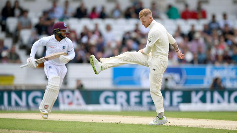 Ben Stokes endured a frustrating day in the field as West Indies dominated England