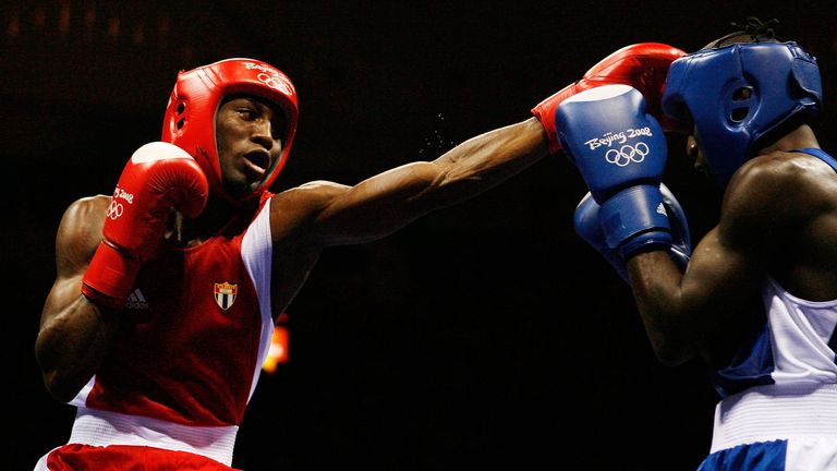 Yordenis Ugas (left) won bronze at the 2008 Olympics in Beijing