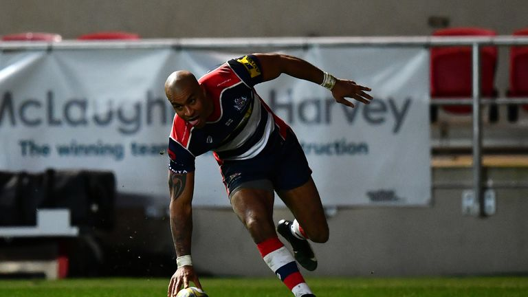 Tom Varndell in action for Bristol last season