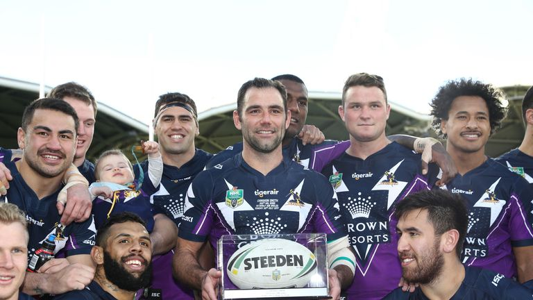 Cameron Smith became the third player in NRL history to make 350 appearances