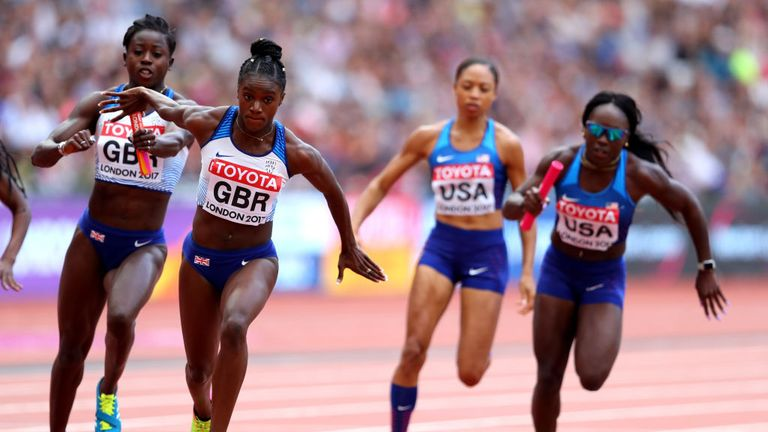 Great Britain's women are also through to the 4x100m relay final