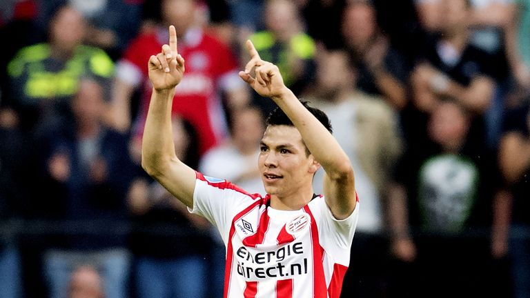 Hirving Lozano scored the only goal of the game in PSV's victory over Excelsior