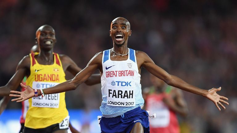 Mo Farah has won Britain's only medal of the championships